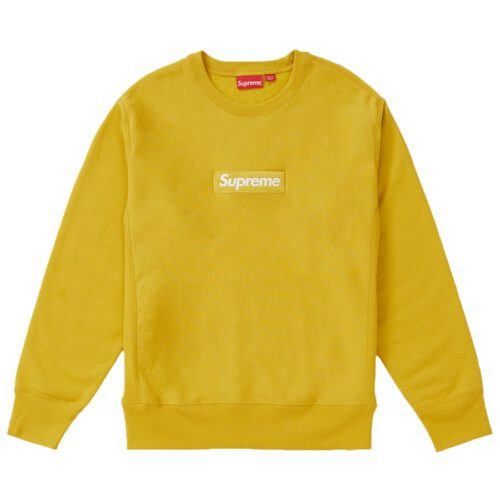 Supreme Mustard Yellow Box Logo Crewneck