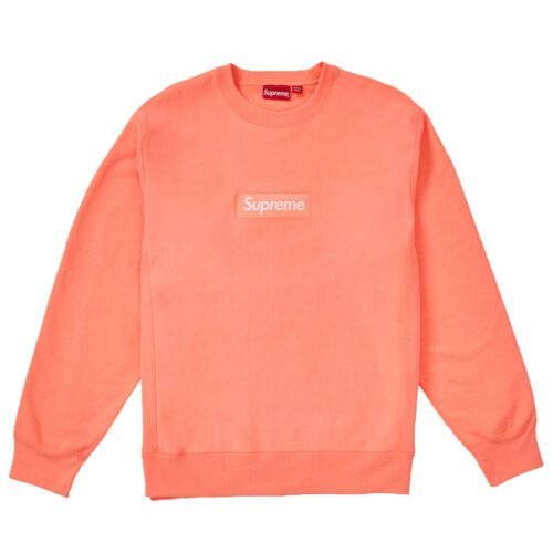 Supreme Fluorescent Pink Box Logo Crewneck