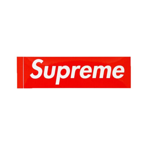 Supreme Normal Boxlogo Sticker red