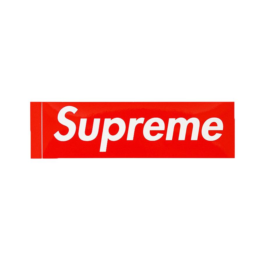 Supreme Normal Boxlogo Sticker red