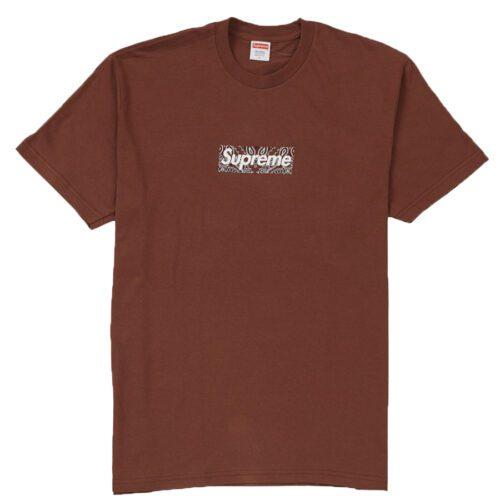 Supreme Bandana Box logo t-shirt brun FW19