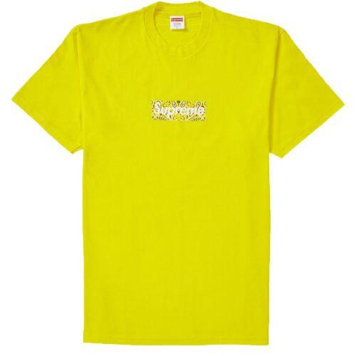 Supreme Bandana Box logo t-shirt gul FW19