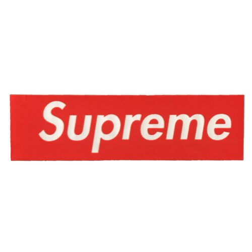 Supreme Velour box logo 2017 Sticker - Rød