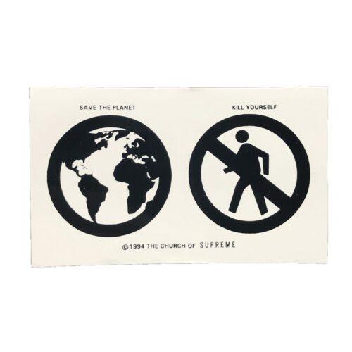 Supreme Save The Planet Sticker