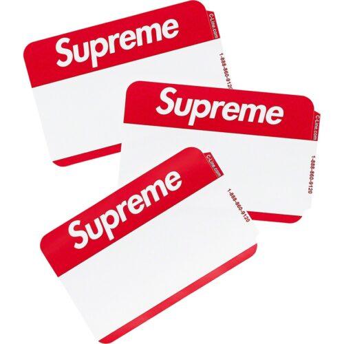 Supreme Navne Sticker - Rød