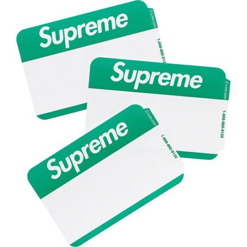 Supreme Navne Sticker - Grøn