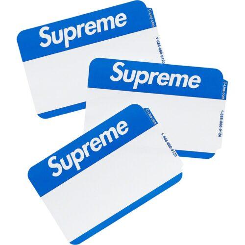 Supreme Navne Sticker - Blå