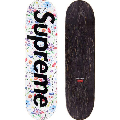 Supreme airbrushed floral skateboard