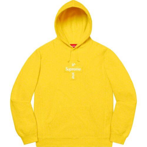 Supreme Cross Box Logo hoodie - Gul