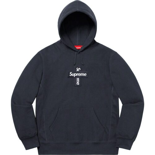 Supreme Cross Box Logo hoodie - Navy