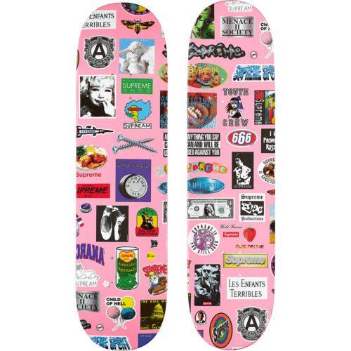 Nyt Supreme Stickers skateboard