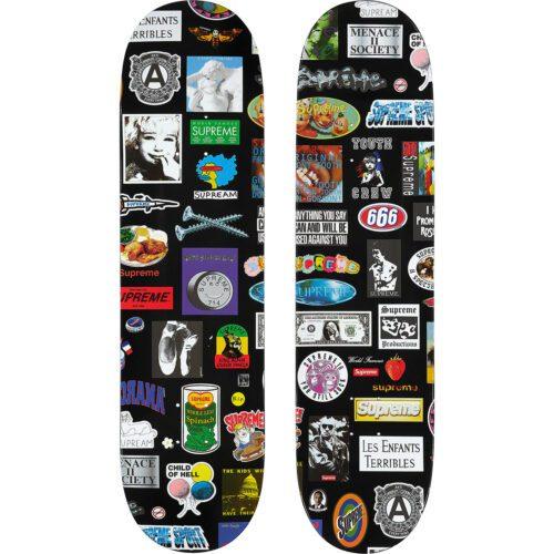 Supreme Stickers skateboard