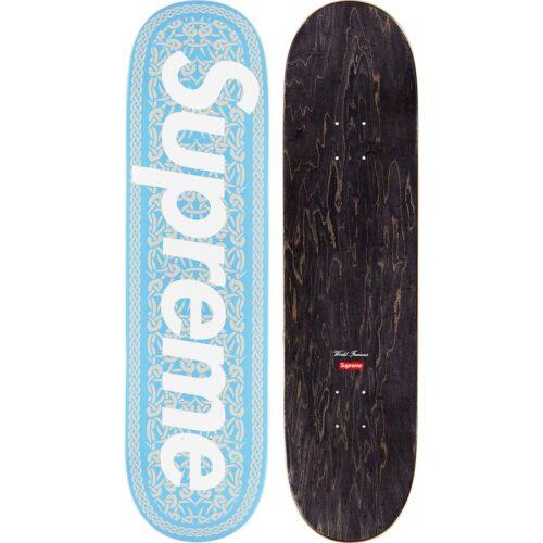 Supreme Celtic Knot Skateboard - blå