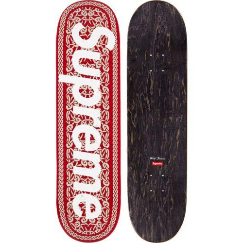 Supreme Celtic Knot Skateboard - rød