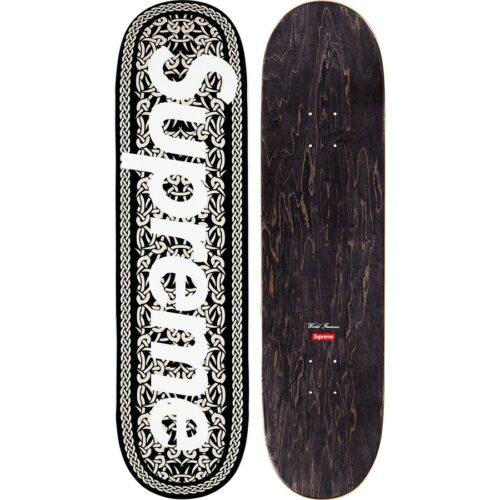 Supreme Celtic Knot Skateboard - sort