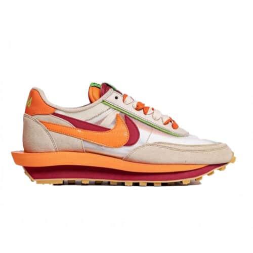 "Nike Waffle LD x sacai x CLOT ""Orange Blaze"""
